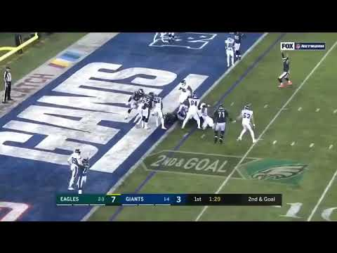 Corey Clement Punches in the TD - Eagles vs Giants