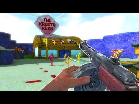 RIP SPONGEBOB ZOMBIES DLC 3  - (Call of Duty Zombies Mod Gameplay)