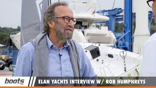 Yacht designer Rob Humphreys talks with boats.com's Dieter Loibner about two decades in which he designed 18 models for Elan Yachts of Slovenia. The interview took place during a test of three current models, the Elan GT5, Elan E4 Family Edition, and Elan Impression 50. RELATED VIDEOS & PLAYLISTS:Elan GT5: Video Boat Review - https://youtu.be/TnOO4eO2JX4Elan GT5: First Look Video - https://youtu.be/M4tRJbgv78cElan E4 Family Edition: Video Boat Review - https://youtu.be/zMo4NSpxC3QElan Impression 50: Video Boat Review - https://youtu.be/EaNvtLQMkMwSubscribe to our boats.com channel: https://www.youtube.com/user/boatsdotcomFor more boating videos, visit http://www.boats.com.boats.com features boat reviews, how-to videos, special features, and information about new boats, boats for sale, and boating products—usually with a dash of fun.Our reviewers test the features, performance, and specifications of each boat, searching out the hidden details for a critical evaluation. If you're shopping for a boat, we want to help you make the best choice. And if you're just looking, we'll try to make it fun too. Subscribe to receive notification of new videos.