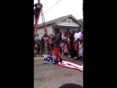 Lil Wayne Stepping On American Flag - God Bless America Video Shoot