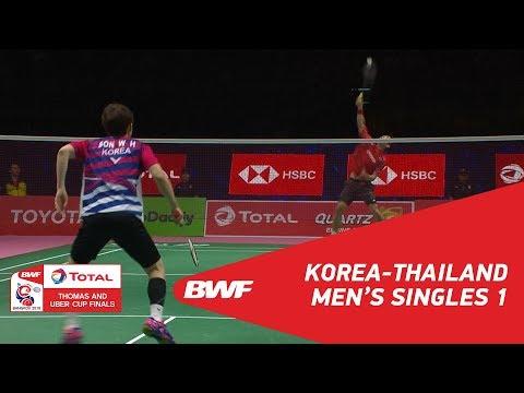 Thomas Cup   MS1   SON Wan Ho (KOR) vs Suppanyu AVHINGSANON (THA)   BWF 2018
