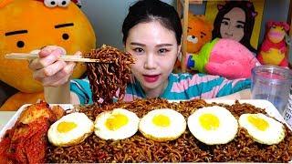 트러플짜파게티 댤걀후라이 먹방 Mukbang