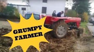 Wściekły rolnik zaorał parking samochodowy…