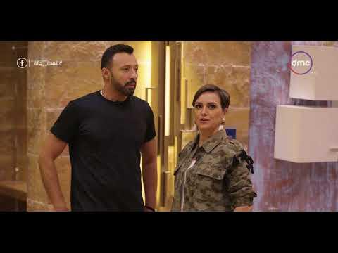 """ريهام عبد الغفور بقميص مموه في """"قعدة رجالة"""""""