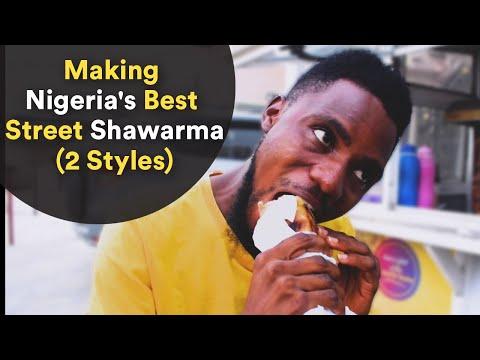 Making Nigeria's Best Street Shawarma (2 Styles)