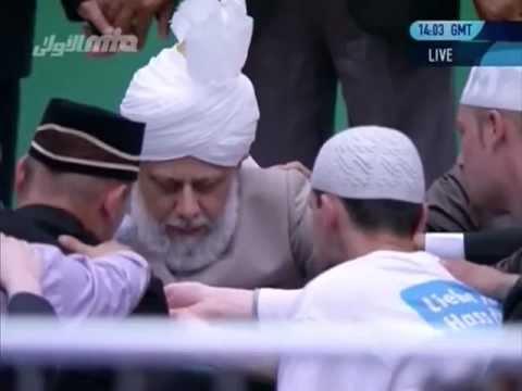 Bait-Zeremonie mit dem Kalifen (aba) auf der Jalsa Salana 2012