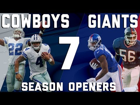Dallas Cowboys vs. New York Giants 7 Season Openers | Flashback Friday | NFL Vault Stories