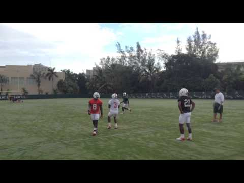 Miami Hurricanes Kickoff Return Practice 8/4/2013 video.