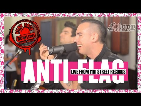 Anti-Flag - Acoustic at 11th St Records | Punk Rock Bowling 2015