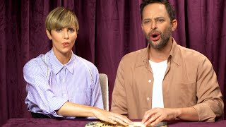 Charlize Theron & Nick Kroll Piss Off Some Spirits 😱   Celebs Play Ouija Against Their Will by Cosmopolitan