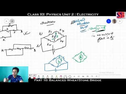 Class 12|| Unit 2 || Electricity || Part 10|| Balanced WheatStone Bridge & Application