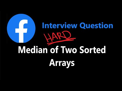Median of Two Sorted Arrays - Binary Search - Leetcode 4