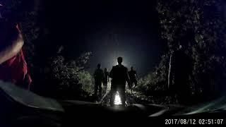 Burza w Jeziorkach/Rytlu i polak uwięziony na drodze między powalonymi drzewami…