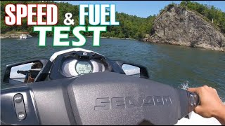 10. 2017 Sea Doo GTI 155 Speed & Fuel Economy
