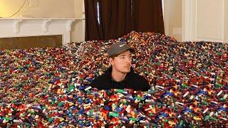 I Put 10 Million Legos in Friend's House