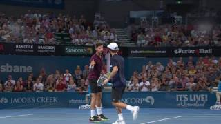 The top 5 hot shots from todays ATP action in the Men's Doubles and Men's Singles Finals.