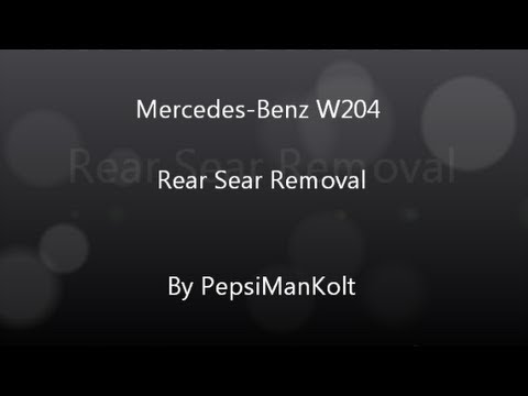 Mercedes-Benz C-Class W204 Rear Seat Removal