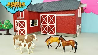 Video FARM ANIMALS Delivery in Red Barn! Horse Cow schleich wild life jungle MP3, 3GP, MP4, WEBM, AVI, FLV Januari 2019