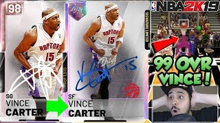 *LIMITED* PINK DIAMOND VINCE CARTER GAMEPLAY! GALAXY OPAL WITH A DIAMOND SHOE IN NBA 2K19 MYTEAM