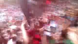 Festa da Torcida Jovem do Flamengo depois do jogo contra o Botafogo.