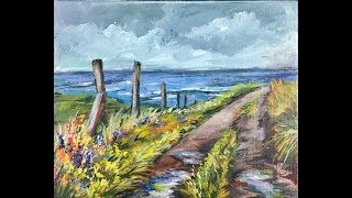 In this video you will learn how to avoid common color mixing mistakes often found with beginner landscape and seascape  artist. Ginger shows you how to mix the right combination of blues and yellows for muted greens that accent the wildflowers spilling over the a country road with muddy puddles from a recent rain. Soft grayed blues can be seen in the distant ocean with fluffy clouds on the horizon are just some of the features in this step by step acrylic painting tutorial.In this lesson, Ginger teaches you step by step how to paint realistic mud puddles on an overcast day and with the addition of colorful wildflowers beside a broken fence creating a painting that comes to life.Being the GOLD STANDARD in acrylic painting lessons, Ginger Cook will be exploring the Fine Art of Acrylic Painting by offering tips and tricks to help you with your own acrylic paintings. During her live broadcast, Ginger will be taking questions and may demonstrate the answer when possible. In this week's exciting episode...Avoid Color Mixing Mistakes Painting Wildflowers on a Country Lane in Acrylic Paints for Beginners!For our art supply list in video form, please watch: https://gingercooklive.gallery/art-supply-video Join Ginger Cook, Master Acrylic Artists, for Live Lessons right here on YouTube every Monday, and Tuesday evening at 7:30pm central. You will meet other artists and be able to ask questions in this live interactive session. We talk about art and other fun subjects as Ginger shows you step by step how to paint another masterpiece with acrylic paints. Join Ginger as she shows you how creating with acrylic paints can be easy, fun and stress-free. Looking for something to paint that we haven't shown yet? Let us know by using the Contact Us form on our website, https://gingercooklive.gallery/contact-us/! Let us hear from you, as you continue your voyage to discover the artist within. We are here to make you the best artist by offering Personal Art Coaching on our website, https