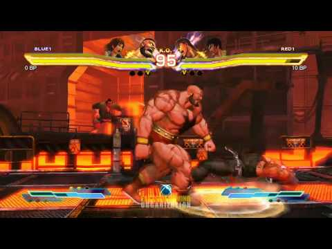 Street Fighter X Tekken - Asuka/Zangief vs Law/Ryu