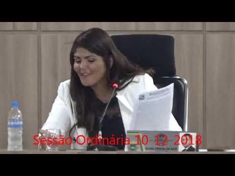 Sessão ordinária do dia 10/12/2018