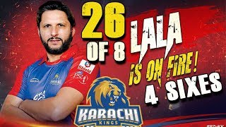 Video Shahid Afridi is on Fire Batting 4 Sixes in PSL | Karachi Kings Vs Peshawar Zalmi | HBL PSL 2018 MP3, 3GP, MP4, WEBM, AVI, FLV Maret 2018