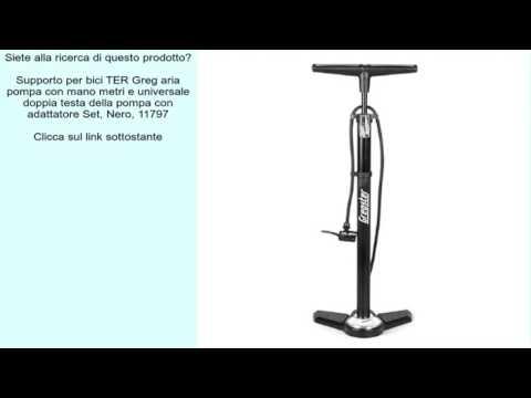 Supporto per bici TER Greg aria pompa con mano metri e universale doppia testa della pompa