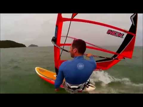lightwind windsurfing @ Baan Manali Resort In Koh Phangan Thailand