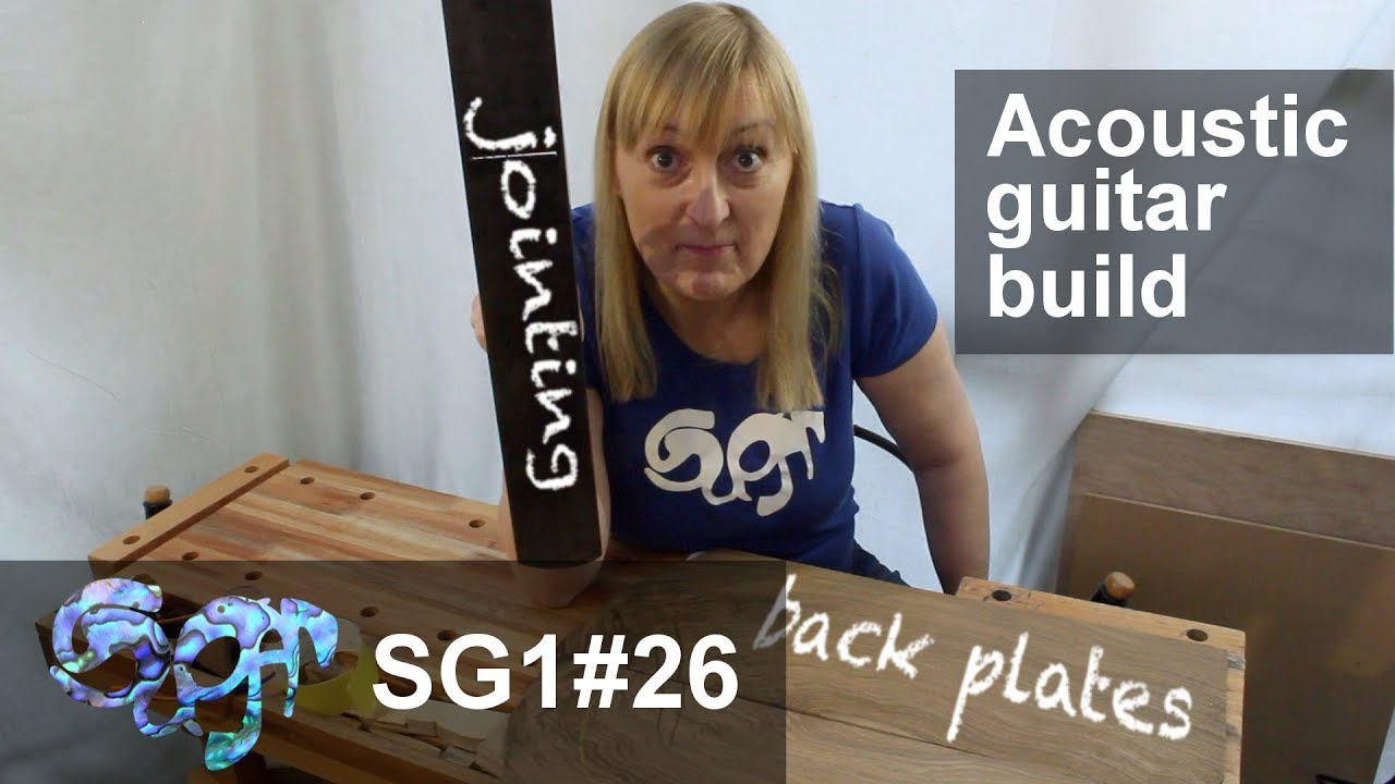 SuGar SG1 acoustic guitar build part 26: Jointing and gluing the back plates