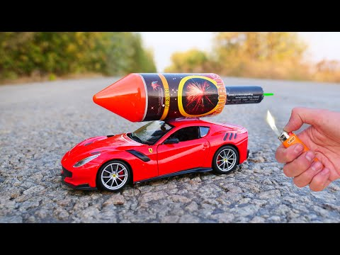 EXPERIMENT: XXL ROCKET INSTEAD OF THE ENGINE IN A CAR