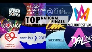 Video Eurovision 2017: TOP 64 From NATIONAL FINALS MP3, 3GP, MP4, WEBM, AVI, FLV Juli 2017