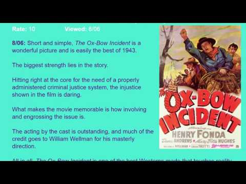 Movie Review: The Ox-Bow Incident (1943) [HD]