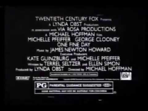 One Fine Day - 1996 Movie Trailer - TV Spot (Michelle Pfeiffer, George Clooney)