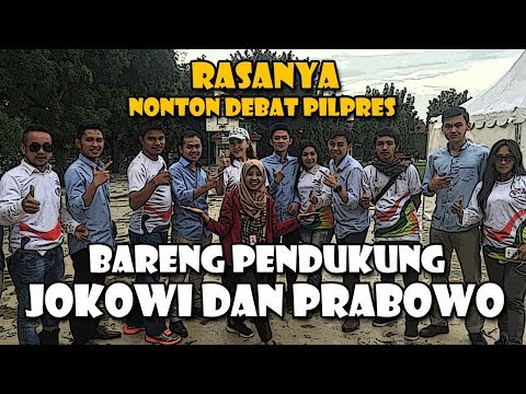 #VlogNews: Rasanya Nonton Debat Pilpres Bareng Pendukung Jokowi dan Prabowo