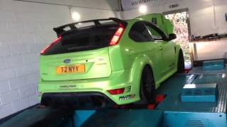 Focus RS mk2 with milltek Ultimate turbo back exhaust with sports catalyst
