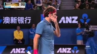 Nadal VS Federer - Australian Open 2014 - Semi-Final - Full Match HD Final Score : Nadal Wins 7/6 6/3 6/3. Don't forget to...