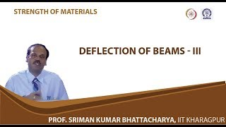 Lecture - 32 Deflection Of Beams - III