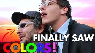 Video THESE GLASSES CURED OUR COLOR BLINDNESS! FT. iDubbbzTV MP3, 3GP, MP4, WEBM, AVI, FLV Januari 2019