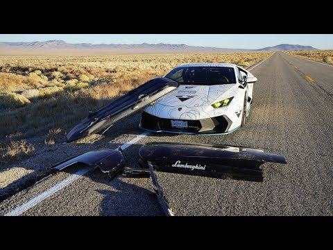 HIGH SPEED DISASTER  Lamborghini's Ski Box FLEW OFF!