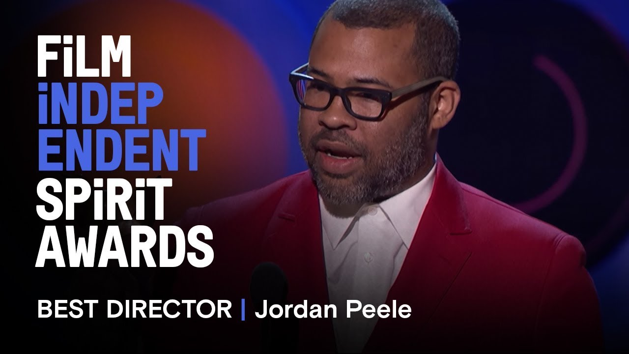 JORDAN PEELE wins Best Director for GET OUT at the 2018 Film Independent Spirit Awards