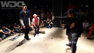 Jiggy Funk (優弥 & YouTee) vs Funky Bee (Ringo Winbee & Yu-to) – WDC 2019 POPPIN' BEST8