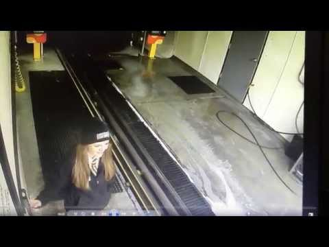 Guy Drives Through a Car Wash at Full Speed