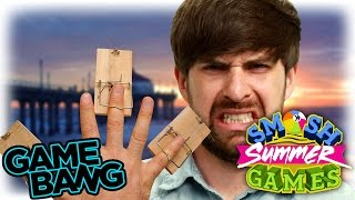 BLINDFOLDED MOUSE TRAP CHALLENGE (Smosh Summer Games)