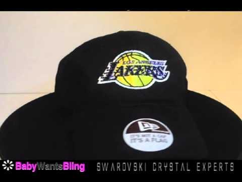 Los Angeles Lakers Swarovski Crystal New Era Bling Ladies Rhinestone Hat Cap