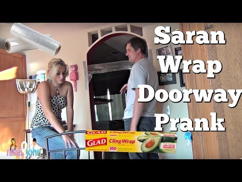 NIKKI EATS S*** (SARAN WRAP DOORWAY PRANK)