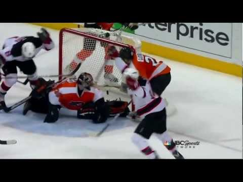 Travis Zajac goal. NJ Devils vs Philadelphia Flyers Game 2 5/1/12