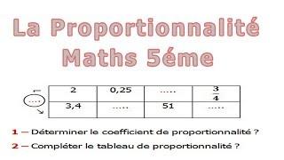 Maths 5ème - La proportionnalité Exercice 20