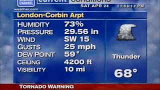 Corbin (KY) United States  city pictures gallery : London-Corbin Kentucky Tornado Warning - April 24, 2010 Tornado Outbreak